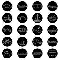 Vector de varios vehículos de transporte.