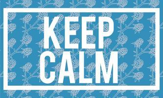 Ilustração de manter a palavra calma sobre fundo azul
