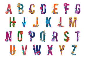 Floral patterned letters
