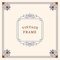 Bloeit vintage ornament frame illustratie