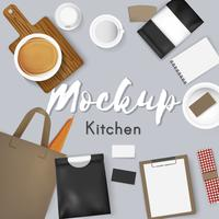 Mockup set collection café illustration vectorielle