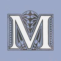 Vintage-Typografieart des Großbuchstaben M