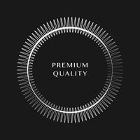 Ornement premium rond design vectoriel