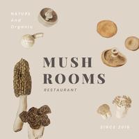 Mushroom restaurant poster