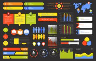 Set of business infograph vectors