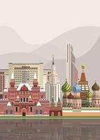 Illustration of Russian landmarks