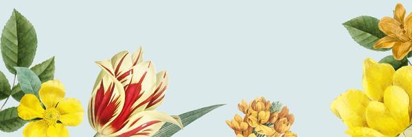 Blank blommig banner kopia utrymme