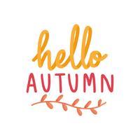 Ciao autunno accogliente illustrazione caduta