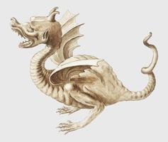 Dragon in vintage style
