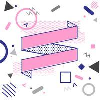 Diseño de vectores de banner de cinta