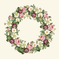 Krans av vackra blommande vildblommor