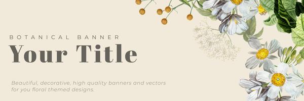 Floral gerahmte Banner