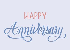 Happy anniversary typography design illustration