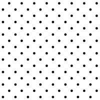 Vecteur de motif noir et blanc à pois sans soudure