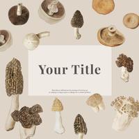 Mushroom mockup design