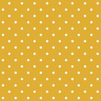 Mustard yellow seamless polka dot pattern vector