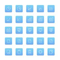Vector conjunto de iconos de negocios