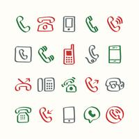 Illustrationssatz Telefonikonen