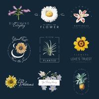 Blommor med citat