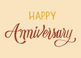 Feliz aniversario tipografía diseño ilustración