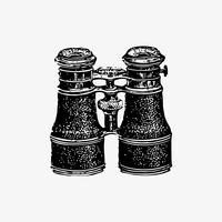Binoculars in vintage style vector