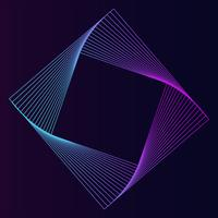 Abstract square geometric element vector