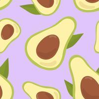 Colorful hand drawn avocado pattern