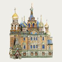 Saint Basil's Cathedral aquarel illustratie