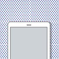 Illustration of a digital tablet
