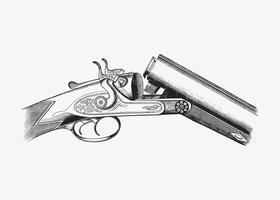 Arme à feu dans le style vintage