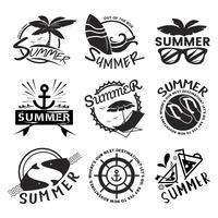 Verão e tipografia de férias ilustração