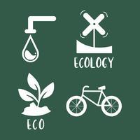 Illustrazione stabilita di simbolo di conservazione dell'ambiente