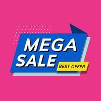 Mega venta mejor oferta tienda promoción anuncio vector
