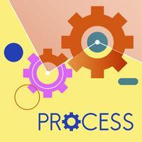 Ilustração, de, processo, engrenagem