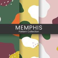 Bunter Memphis-Musterdesignvektor