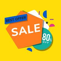 Best offer sale 80% off shop promotion advertisement vector