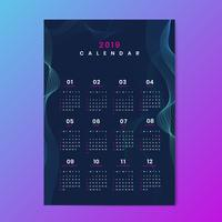 Maquete de calendário de design de contorno
