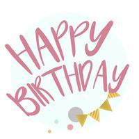 Feliz aniversário tipografia projeto vector
