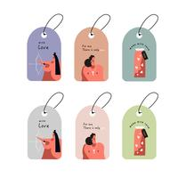 Romantic tags set