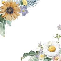 Floral frame background