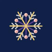Illustration of a colorful snowflake pattern