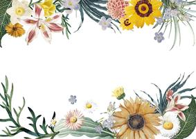 Floral ram bakgrund