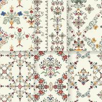Patrones de floración vintage