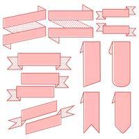 Conjunto de vectores de banner de cinta