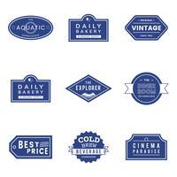Illustration uppsättning vektor emblem etikett