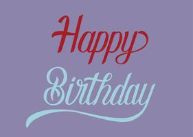 Happy birthday typography design illustration