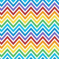 Vetor de padrão de zig zag colorido sem emenda