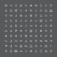 Icônes d'ordinateur mixtes