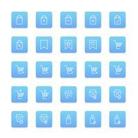 Vecteur série d'icône shopping en ligne