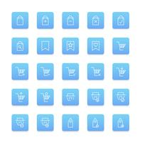 Vector set of online shopping icon